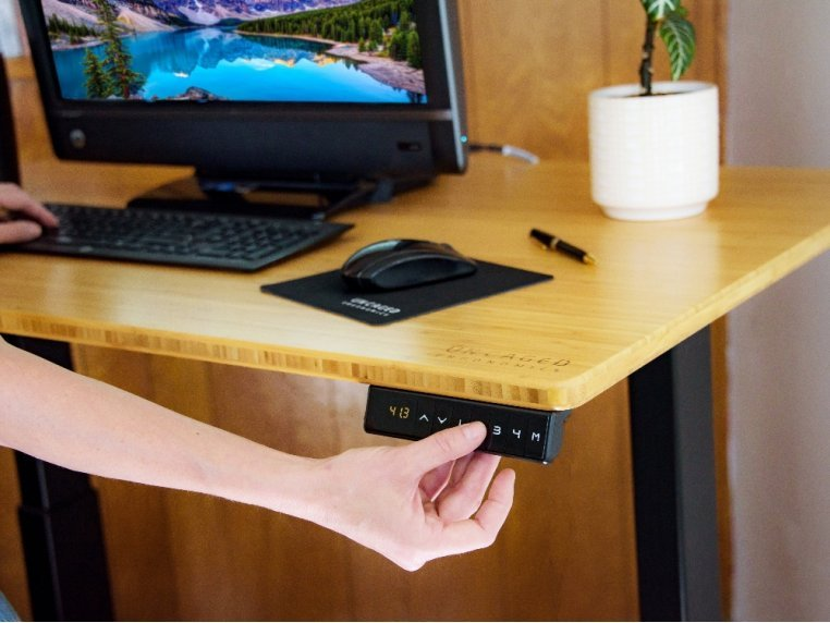 Electric Bamboo Standing Desk by Uncaged Ergonomics - 1