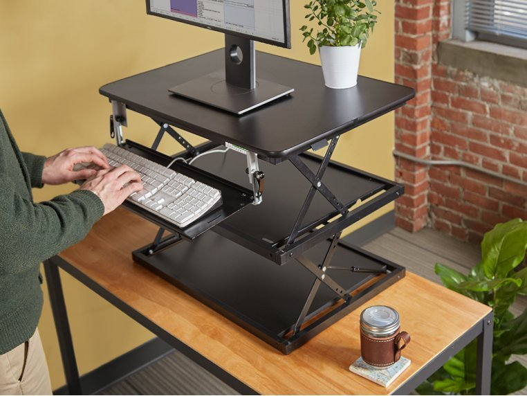 Multi-Level Adjustable Standing Desk by Uncaged Ergonomics - 1