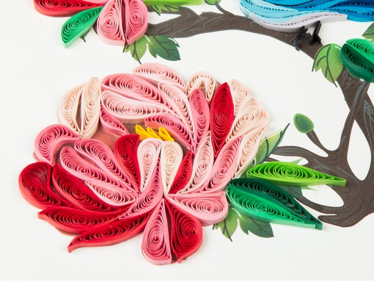 Handcrafted Quilled Card - Floral by Quilling Card - 3