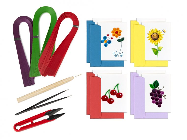 Beginner Paper Quilling Card Kit by Quilling Card - 5