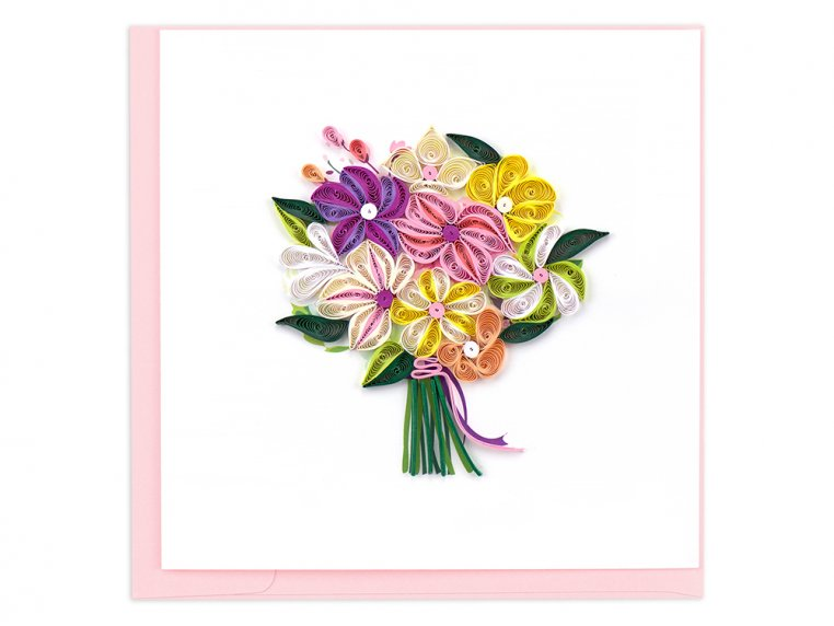 Handcrafted Quilled Card - Floral by Quilling Card - 7