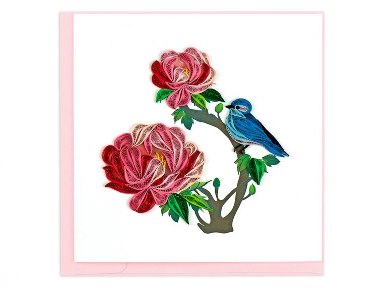 Handcrafted Quilled Card - Floral by Quilling Card - 10
