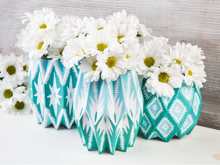 Paper Vase Wraps - Set of 3 by Lucy Grymes - 3