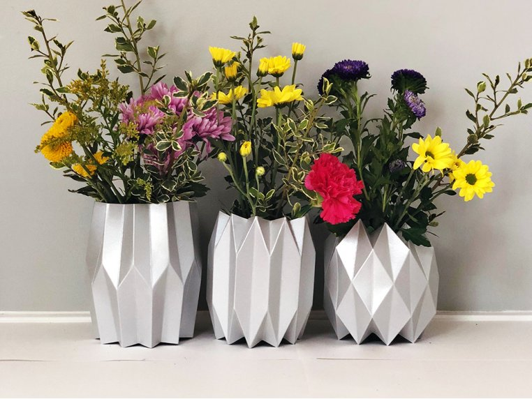 Paper Vase Wraps - Set of 3 by Lucy Grymes - 1