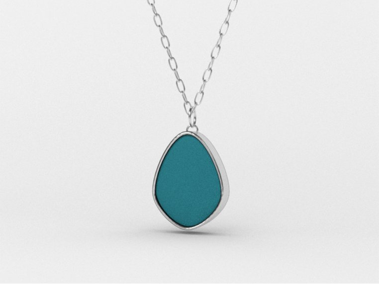 Sea Glass Pendant Necklace by Prism Sea Glass - 7
