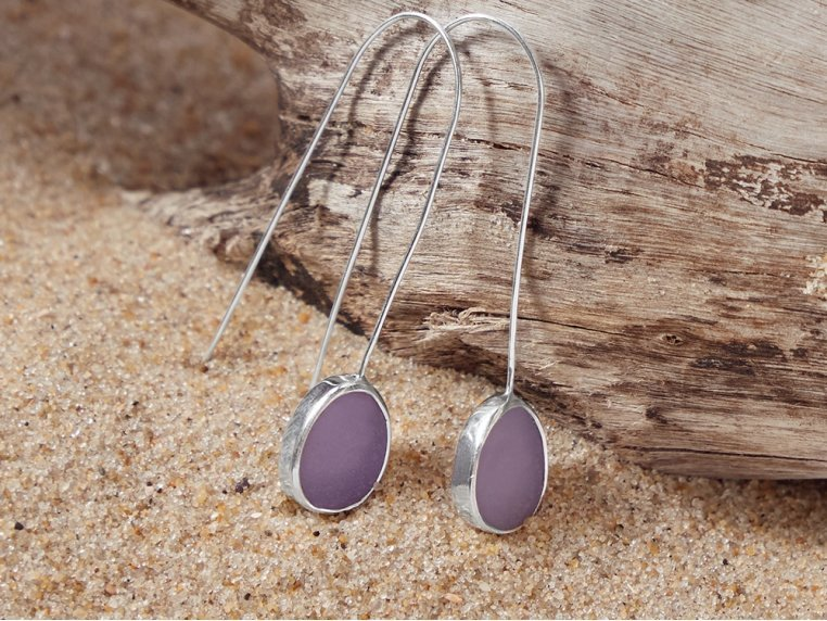 Sea Glass Drop Earrings by Prism Sea Glass - 3