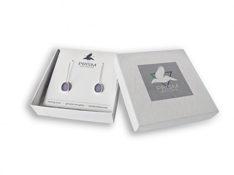 Sea Glass Drop Earrings by Prism Sea Glass - 4
