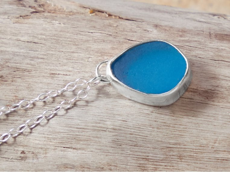 Sea Glass Pendant Necklace by Prism Sea Glass - 3
