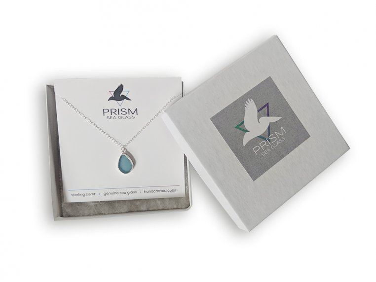 Sea Glass Pendant Necklace by Prism Sea Glass - 5