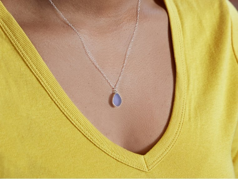 Sea Glass Pendant Necklace by Prism Sea Glass - 1