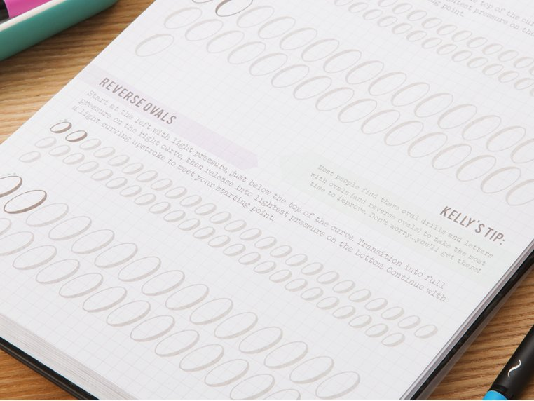 Brush Lettering Calligraphy Workbook by Kelly Creates - 2
