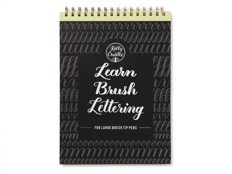 Brush Lettering Calligraphy Workbook by Kelly Creates - 5