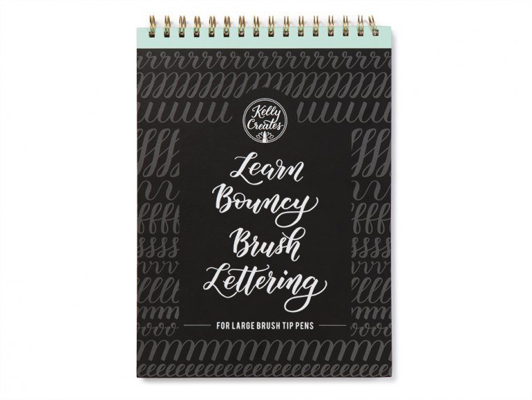 Brush Lettering Calligraphy Workbook by Kelly Creates - 7