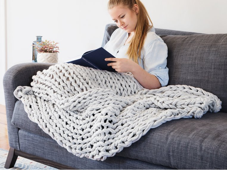 Chunky Knit Throw by Bedford Collections - 2