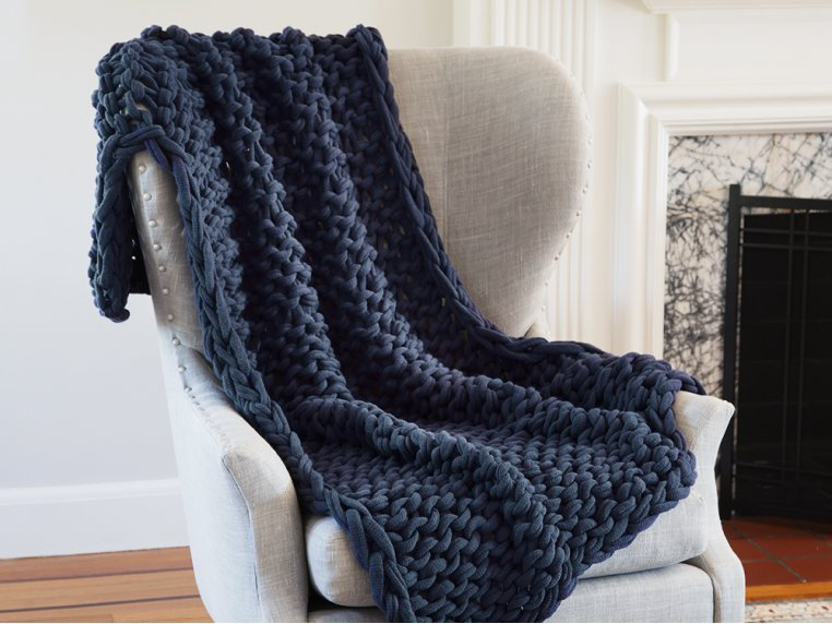 Chunky Knit Throw by Bedford Collections - 1