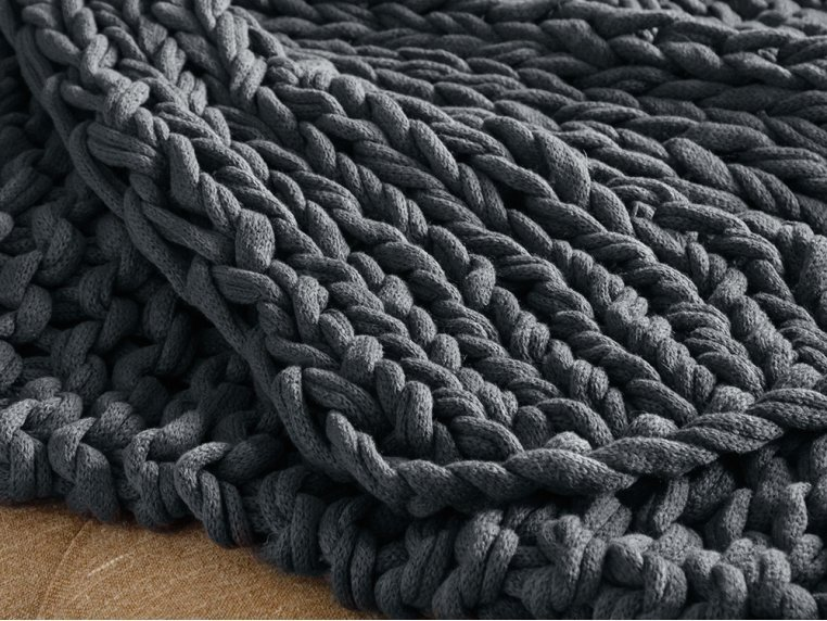 Chunky Knit Throw by Bedford Collections - 4