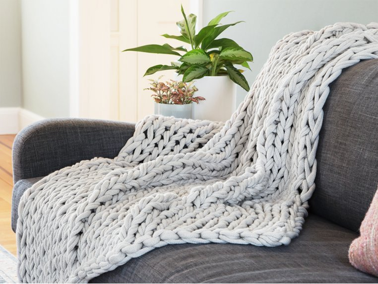Chunky Knit Throw by Bedford Collections - 3