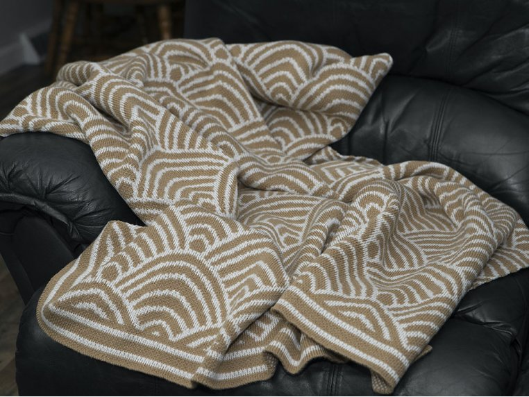 Deco Design Knit Throw by Bedford Collections - 2
