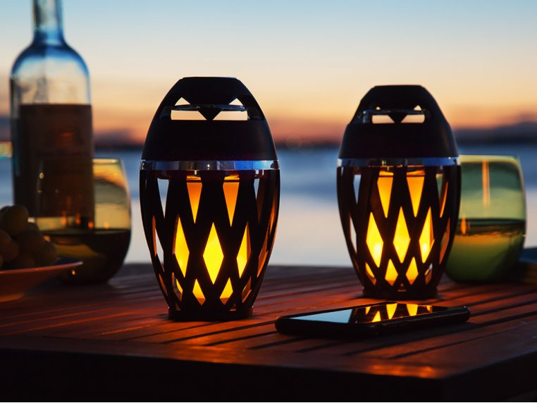 Ambient LED Outdoor Bluetooth Speaker by TikiTunes - 4