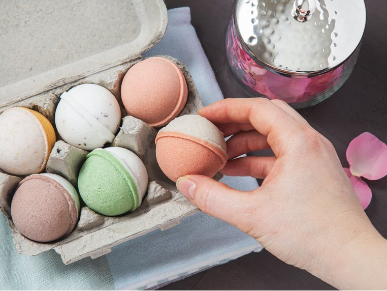 Mini Bath Bombs Egg Carton Gift Set by Level Naturals - 2