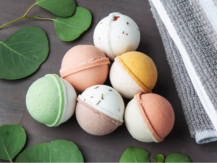 Mini Bath Bombs Egg Carton Gift Set by Level Naturals - 1