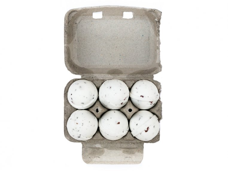 Mini Bath Bombs Egg Carton Gift Set by Level Naturals - 6