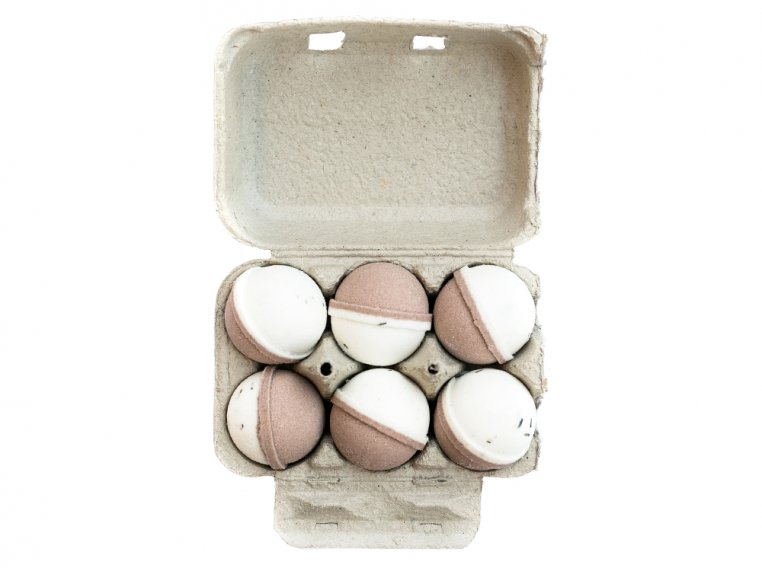 Mini Bath Bombs Egg Carton Gift Set by Level Naturals - 7