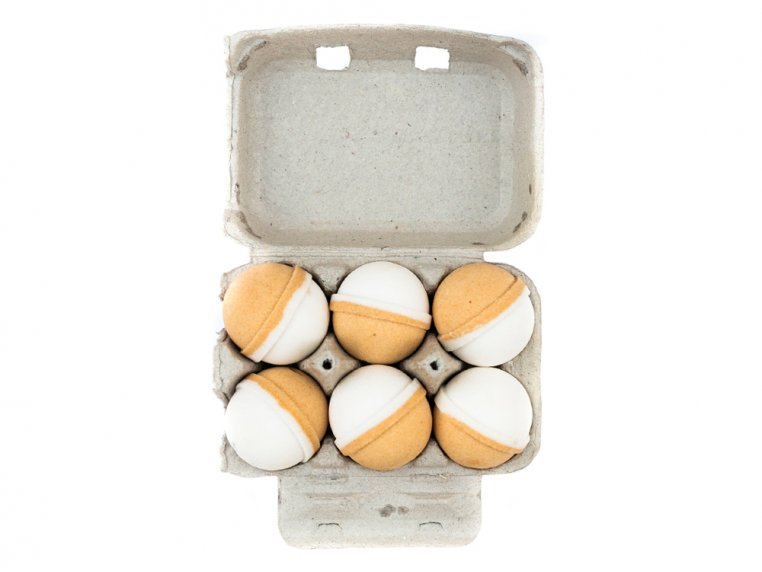 Mini Bath Bombs Egg Carton Gift Set by Level Naturals - 8