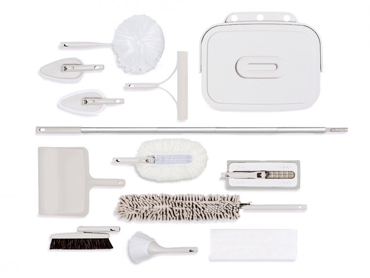 Minimalist Modular Home Cleaning Kit - White by Satto - 1