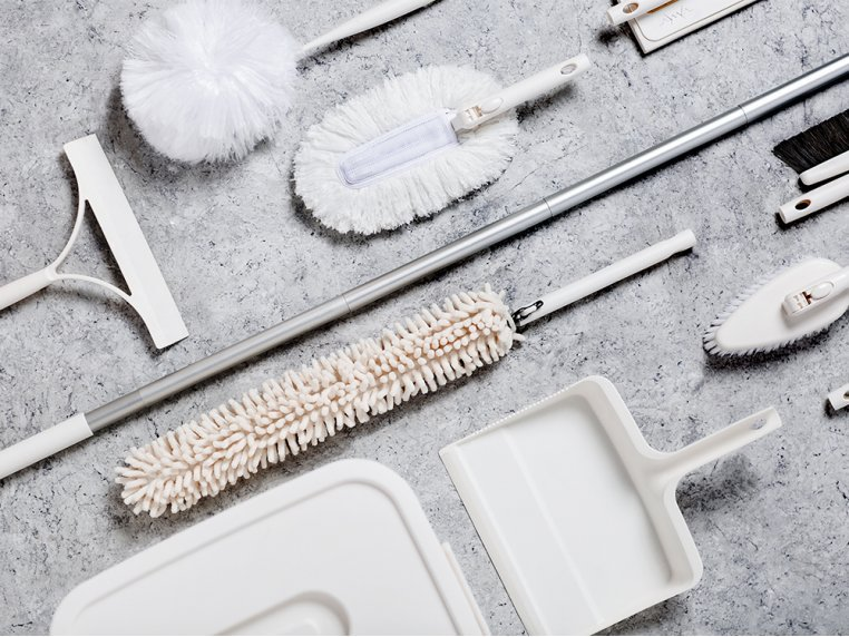 Minimalist Modular Home Cleaning Kit - White by Satto - 2