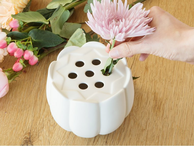 Ceramic Flower Frog Vase by The Floral Society - 2
