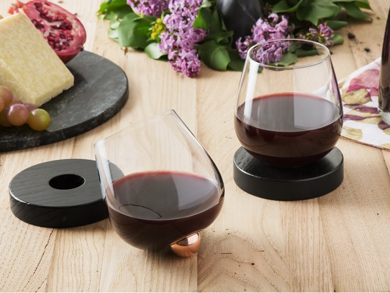No-Spill Aerating Wine Glass by Aura Glass - 1