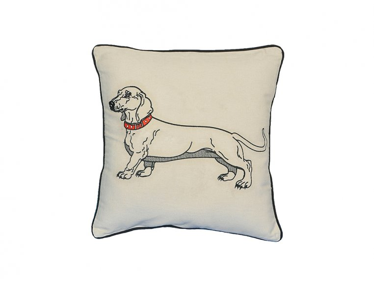 Dog Embroidered Throw Pillow by Beyond Cushions - 5