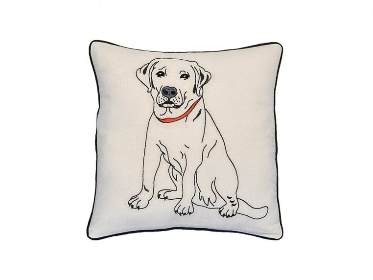 Dog Embroidered Throw Pillow by Beyond Cushions - 9