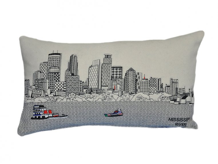 Prince Skyline Lumbar Pillow by Beyond Cushions - 31