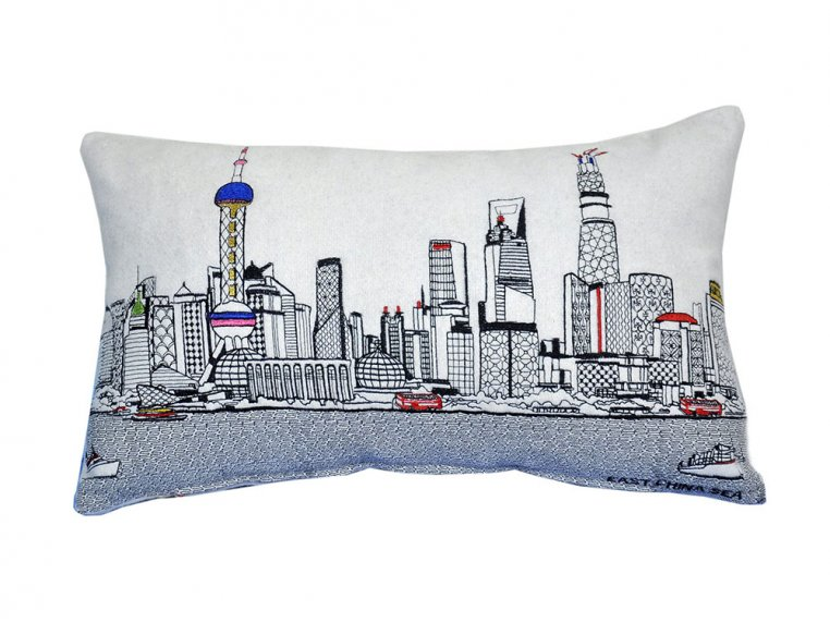 Prince Skyline Lumbar Pillow by Beyond Cushions - 34