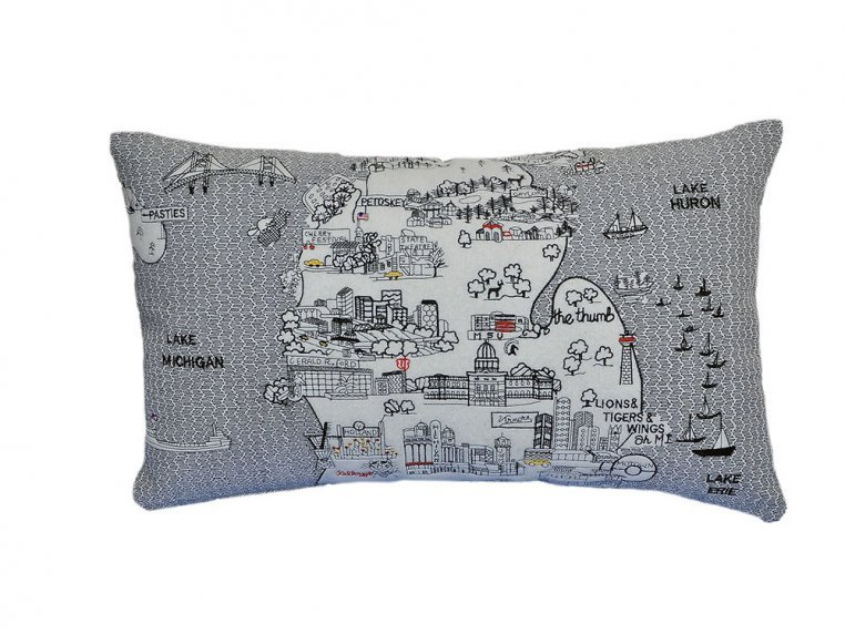 Prince Skyline Lumbar Pillow by Beyond Cushions - 40