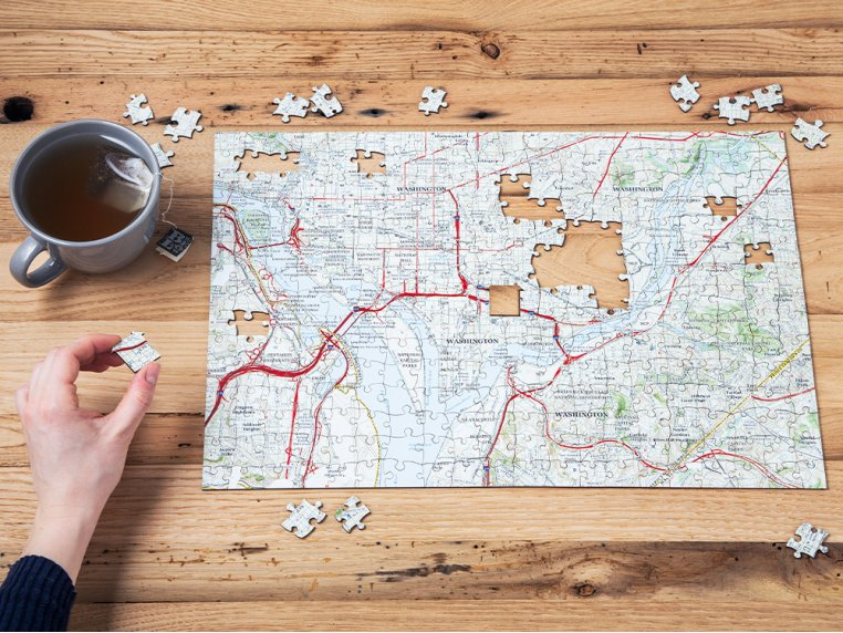 Custom Hometown Map Puzzle by Butler and Hill - 2