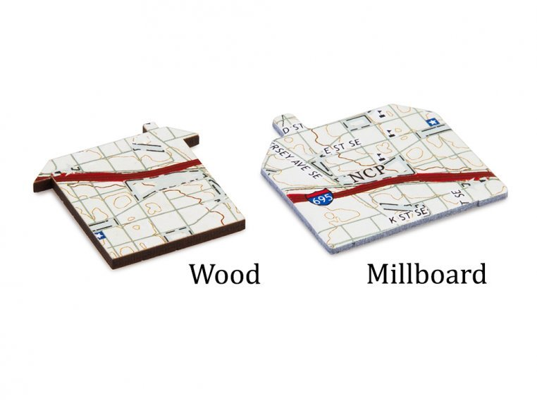 Custom Hometown Map Puzzle by Butler and Hill - 3