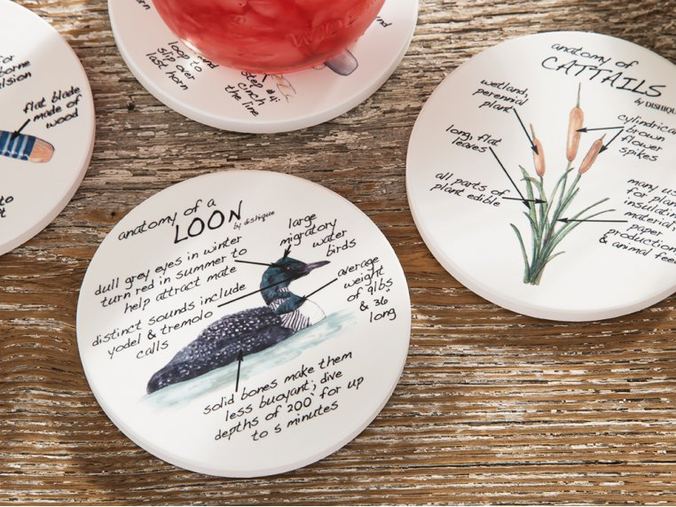 Anatomy Coaster Set, Lifestyle by Dishique - 2