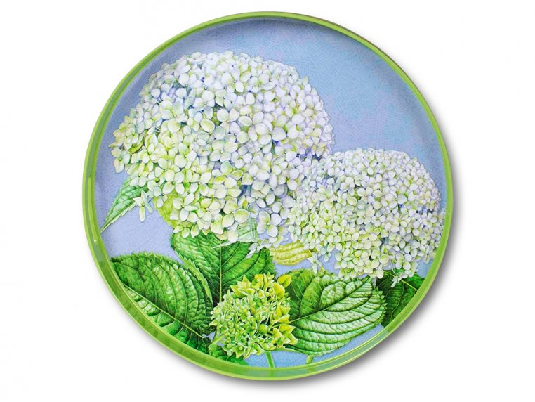 Round Lacquer Serving Tray by rockflowerpaper - 5