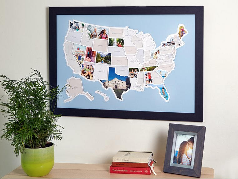 Personalized 50 States Photo Map by Thunder Bunny Labs - 3