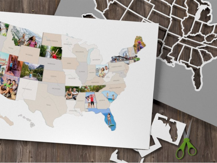 Personalized 50 States Photo Map by Thunder Bunny Labs - 1