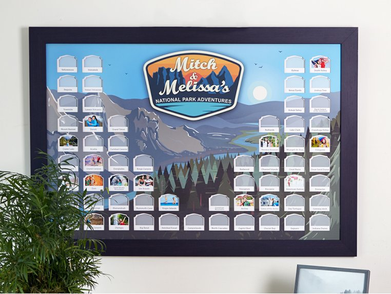 Personalized National Parks Photo Map by Thunder Bunny Labs - 1