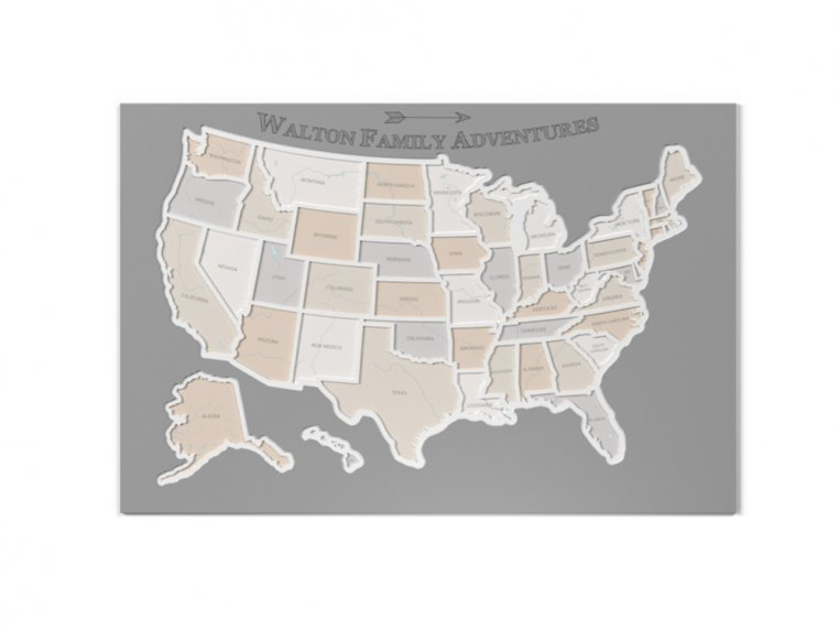 Personalized 50 States Photo Map by Thunder Bunny Labs - 5