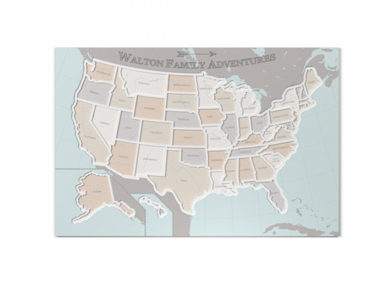 Personalized 50 States Photo Map by Thunder Bunny Labs - 8