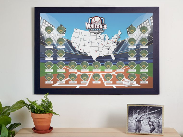 Personalized Sports Arena Photo Map by Thunder Bunny Labs - 1
