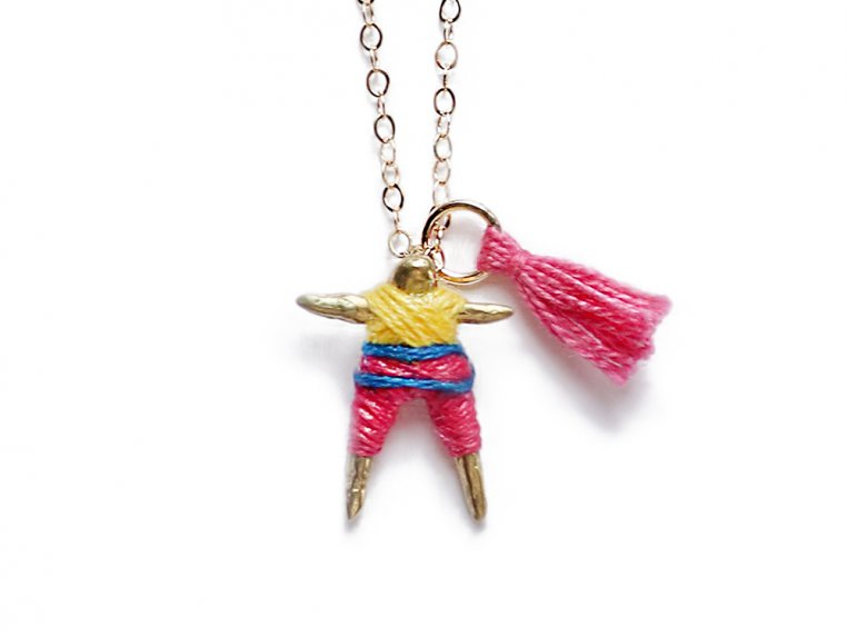 Worry Doll Necklace by Hechizo - 9