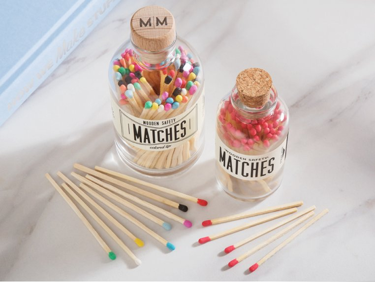 Vintage Apothecary Color-Tip Matches by Made Market Co. - 2