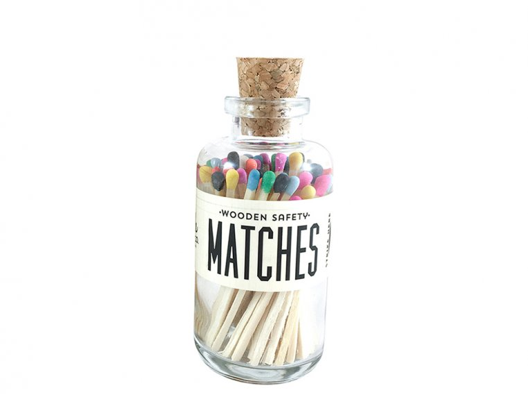 Vintage Apothecary Color-Tip Matches by Made Market Co. - 45